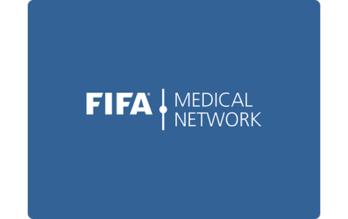 image showing the fifa football medicine mark on blue background